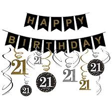 21st birthday decorations gifts for