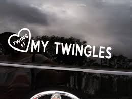 Twins 1 Car Decal Love My Twingles Super Special By Propmama 5 00 Twin Humor Twins Twin Shirts