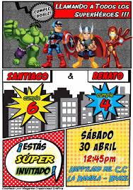 Digital Superheroe Invitation Cumpleanos Nino Boy Birthday