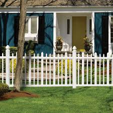 Shop Gatehouse Arborley 4 Ft X 8 Ft White Stockade Picket Vinyl Fence Panel At Lowes Com Vinyl Fence Panels Picket Fence Panels Lowes Home Improvements