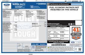 Window Sticker For 2019 Ford Super Duty F 250 Srw 4 Wd Super Cab Box
