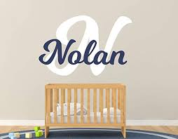 Custom Name Initial Wall Decal Egraphicstore