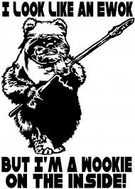 Star Wars Look Like An Ewok Wookie On The Inside Car Or Truck Window Decal Sticker Rad Dezigns