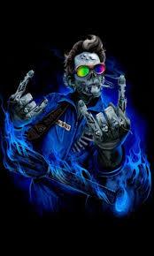 free guitarist skull live wallpaper apk
