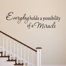 Vwaq Everyday Holds A Possibility Of A Miracle Wall Decal Inspirational Vinyl Lettering Faith Quote Home Decor Stickers Walmart Com Walmart Com