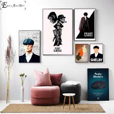 Peaky Blinders Shelby Fan Artwork Wall Art Canvas Painting Poster For Home Decor Posters And Prints Unframed Decorative Pictures Painting Calligraphy Aliexpress