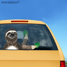 Wipersigns Sloth Waving Wiper Decals Pvc Car Styling Rear Window Wiper Stickers Rear Windshield Stickers Car Stickers Car Stickers Aliexpress