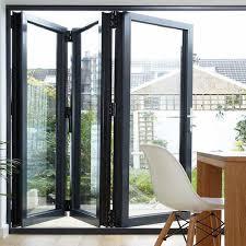 aluminium doors tempered glass inward