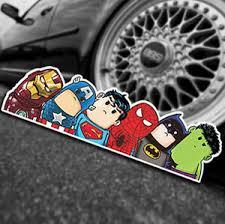1x Marvel Avengers Universe Car Decal Sticker Bumper Window Sticker Superhero Dc Ebay