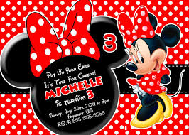 Partyexpressinvitations Red Minnie Mouse Birthday Invitations