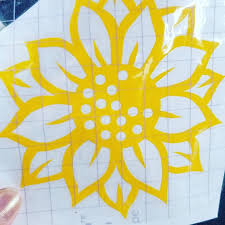 Sunflower Vinyl Decal Etsy