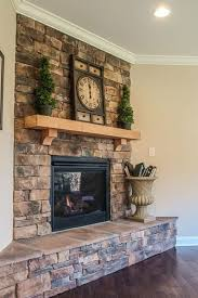 best ideas about corner stone fireplace