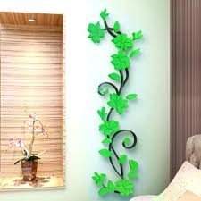 Flower Vine Wall Stickers Home Decor Large Paper Flowers Living Room Sticker Bedroom On The Wal