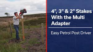 Petrol Post Driver 4 3 2 Stakes With The Multi Adapter Youtube