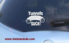Tunnels Suck Dog Agility Sticker Vinyl Sticker Car Decal Blakdogs Vinyl Designs