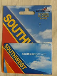 southwest airlines 100 gift card for