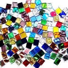 1cm 1cm mixed color mirror glass mosaic