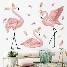 The Flamingo Queen Wall Stickers For Living Room Bedroom Kids Room Nursery Wall Decor Art Murals Baseboard Vinyl Decals Befiriothin