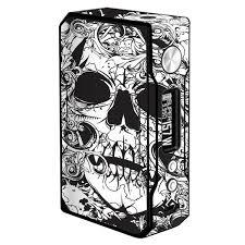 Skin Decal For Voopoo Drag 157w Vape Crazy Lineart Skull Design Itsaskin Com