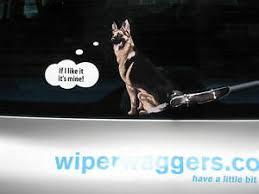 German Shepherd Dog Sticker With Wiper Wagging Tail For Car Rear Windscreen Ebay