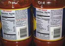 prego spaghetti sauce nutrition label