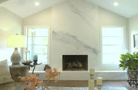 venetian plaster fireplace created to