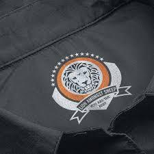 clothing logo design for lion amongst