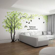 Tree Wall Decal 3d Living Room Green Yellow Acrylic Best Decorative