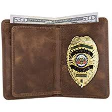 com police badge wallet all