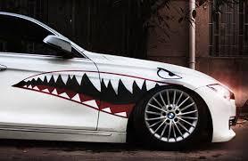 Complete 60 Full Size Shark Mouth W Eye Die Cut Vinyl Decals Ijdmtoy Com