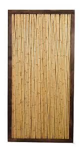 Bamboo Cane Framed Garden Fence Panel 6ft X 3ft Screening Fencing Wooden Wood Ebay