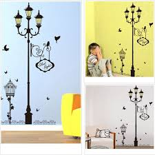 Ancient Lamp Bird Wall Stickers Vinyl Living Room Bedroom Sofa Background Decoration Mural Art Decals Home Decor Wallpaper Wallcorners Art Canvas