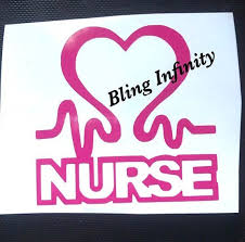 Nurse Hearbeat Vinyl Decal Nurse Decal Medical Decal Mug Etsy