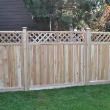75 Fence Designs Styles Patterns Tops Materials And Ideas Fence With Lattice Top Wood Fence Design Lattice Fence