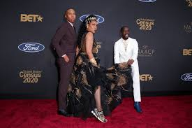 Lena Waithe, Tichina Arnold, and Elijah Kelley at the 2020 NAACP ...