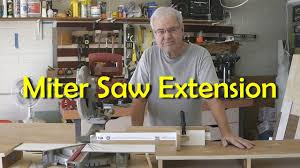 Building A Miter Saw Extension Table Youtube