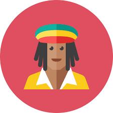 rasta free icon of kameleon round