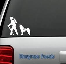 Hiking Hiker W Husky Dog Decal Sticker For Car Truck Suv Van Etsy Dog Decals Husky Dogs Hiking Dogs