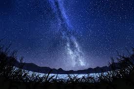 نجوم ورق الجدران سماء نجمية درب التبانة فن ليل سماء