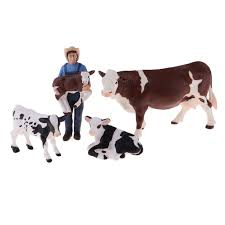 Plastic Farm Animals Toy Realistic Farm Animal Model Action Figure Collectible Farmer 4 Cows Action Toy Figures Aliexpress