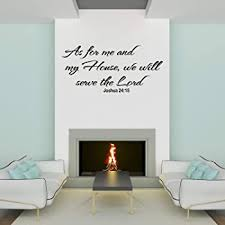 Amazon Com Empresal As For Me And My House Wall Decals Quotes Christian Art We Will Serve The Lord Scripture Quote Sticker Kitchen Dining