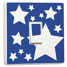 White Stars On Blue Kids Bedroom Home Decorative Accessories Light Switch Sticker Skin Cover Decal Buy Online In Belize Stika Co Products In Belize See Prices Reviews And Free Delivery
