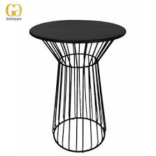 furniture metal wire high bar tables
