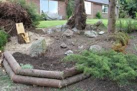 log retaining wall diy retaining wall