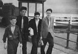 A teenage Ian Brady pictured in a group setting, ~1950s : serialkillers