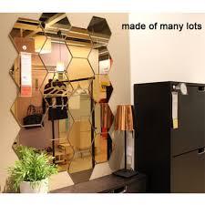 Best Offer Aa3e 12pcs 3d Mirror Hexagon Vinyl Removable Wall Sticker Decal Home Decor Art Diy Home Decor Living Room Mirrored Sticker Gold Cicig Co