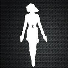 Black Widow Silhouette Avengers Decal Car Window Vinyl Decal Sticker Laptop Ebay