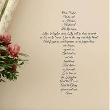 Scripture Wall Decal The Lord S Prayer Vinyl Written