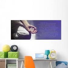 Mindfulness Meditation Word Cloud Wall Decal Wallmonkeys Com