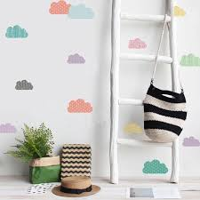 18pcs Set Cute Colored Clouds Wall Stickers Ins Nordic Style Wall Decals Girl Room Wall Decoration Living Room Bedroom Murals Wall Stickers Aliexpress